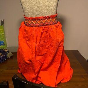 Aztec elastic waist skirt